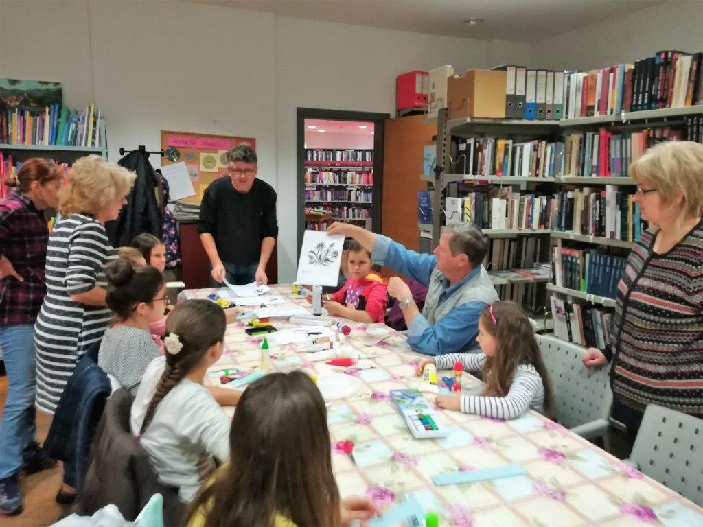 Belišćanski Slikari Održali Kreativnu Radionicu U Gradskoj